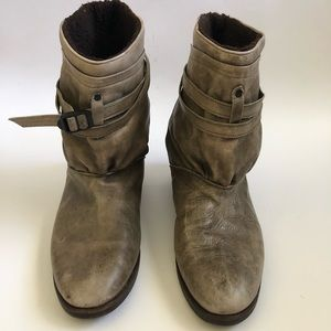 Men's Vintage 1980's Distressed Slouch Boots